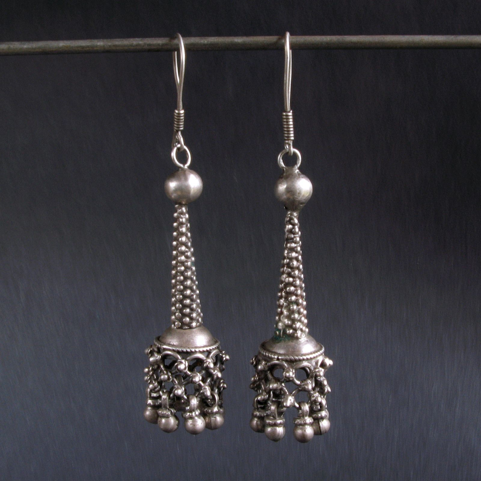 product kuchi tribal silver img antique earrings afghanistan costume