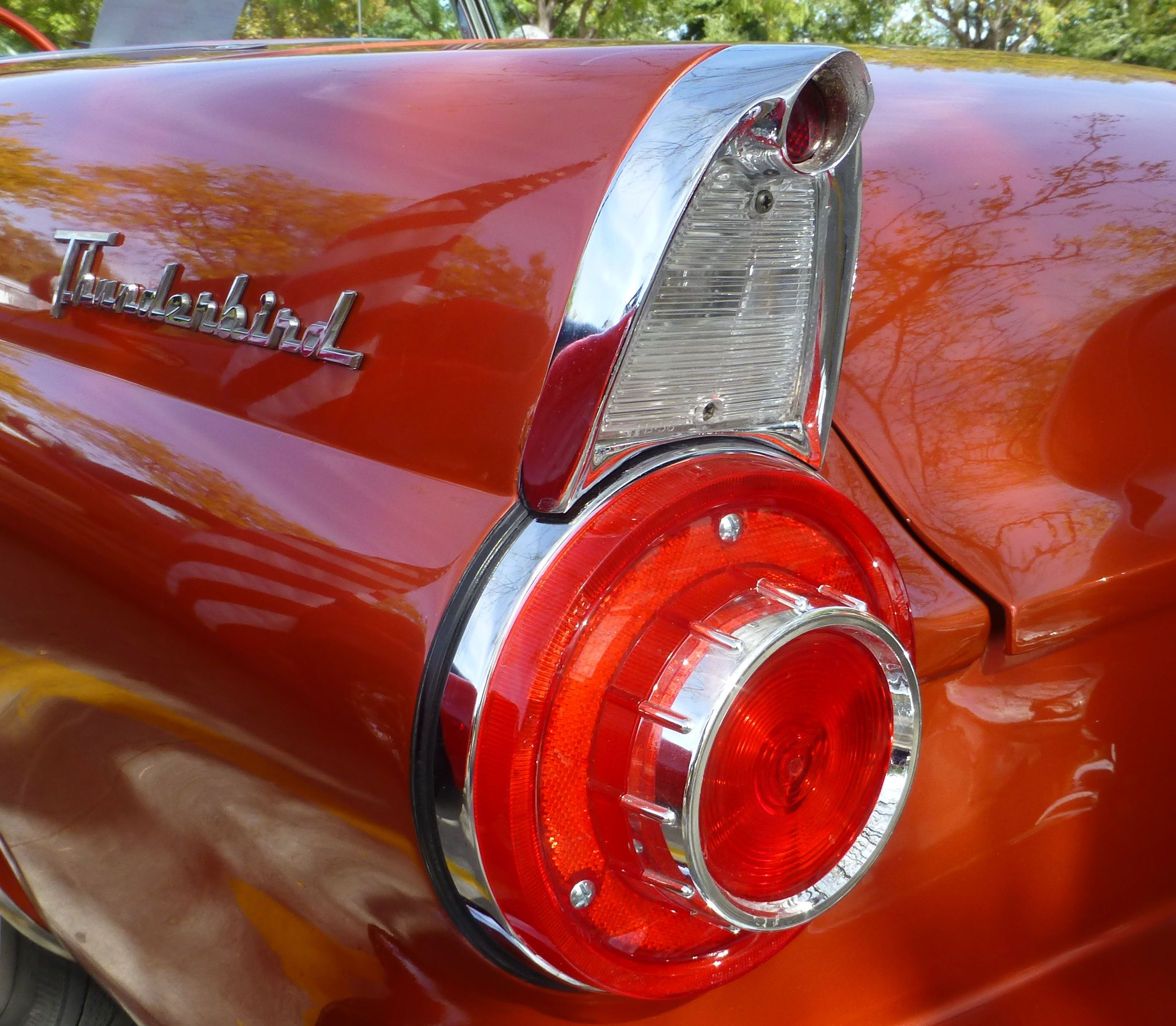 1956 Ford Thunderbird tail fin graphy by David E Nelson 2016