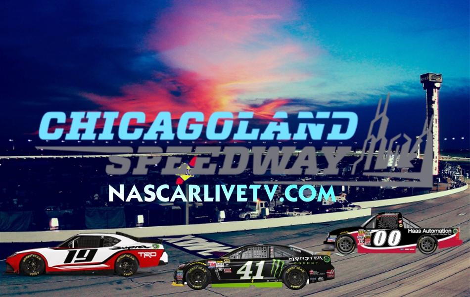 Chicagoland Speedway Live   Nascar Live TV Track #NASCAR #Chicagoland
