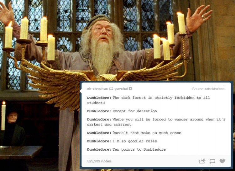 10 points to Dumbledore!