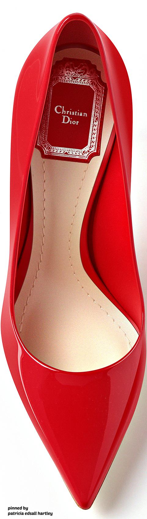 Dior Red Patent Calfskin Pump 2016