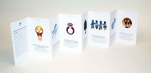 16-panel accordion-fold brochure Brochure Design Accordion fold