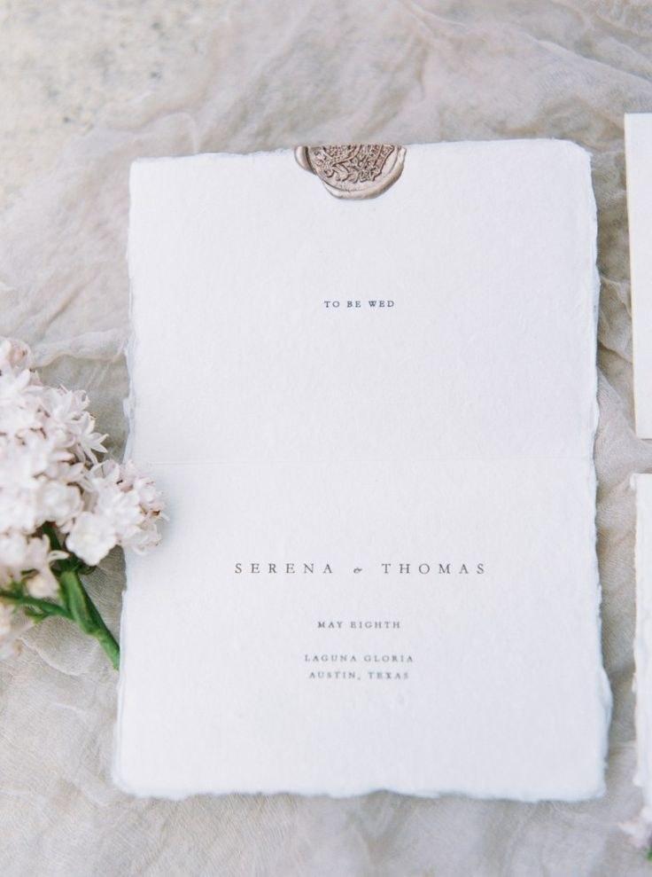 Modern Minimal Wedding Invitations Featured on Style Me Pretty ...