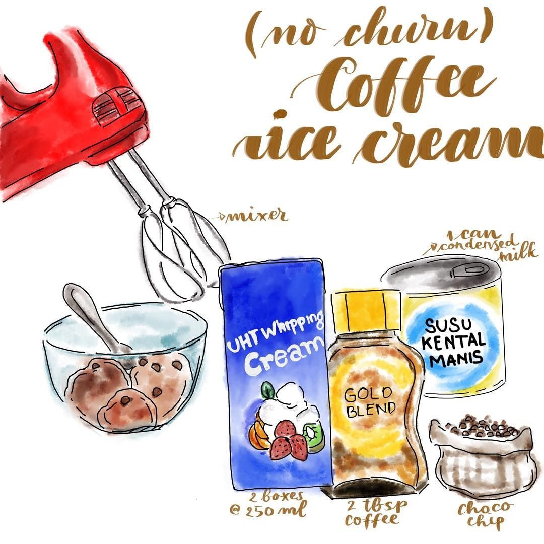 (No churn) Coffee Ice Cream Ini sudah kesekian kalinya