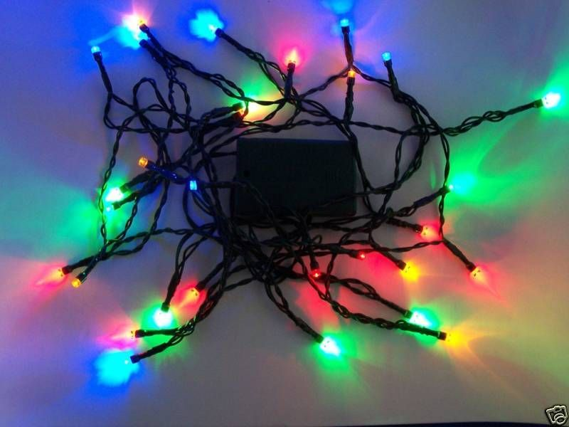 30 Batt Powered Led Multicolor Christmas Lights Flash Christmas Lights Lights Lighted Wine Bottles