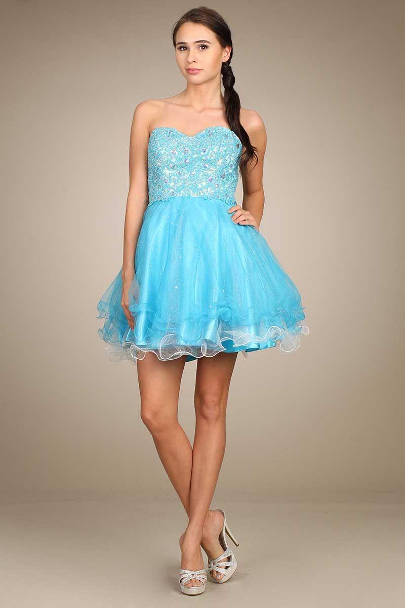 Homecoming Mini Dress FT10131 A-Line Mini Prom Dress, Sweetheart ...