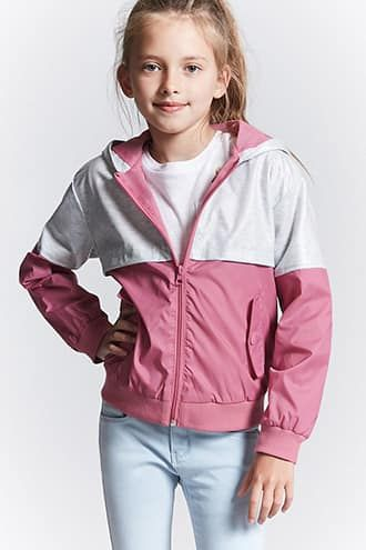Baby Girl Kid Windbreaker Outerwear Coat Jacket Top Outfit Bomber Parka Overcoat