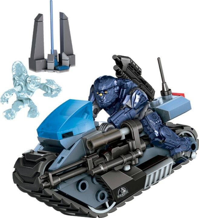 Halo Unsc Siege Bike From Mega Bloks Lego Halo Lego And Legos