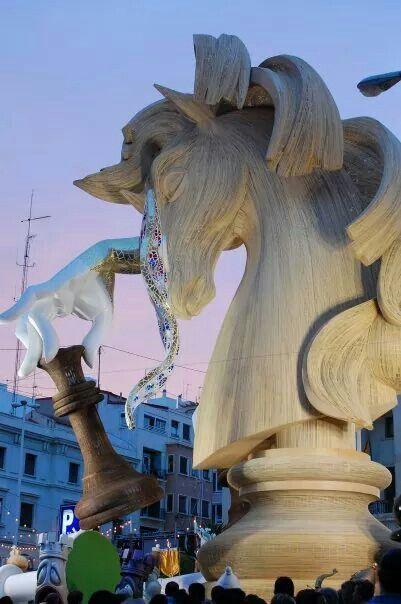 Hoguera  Hernan Cortes, año 2009.