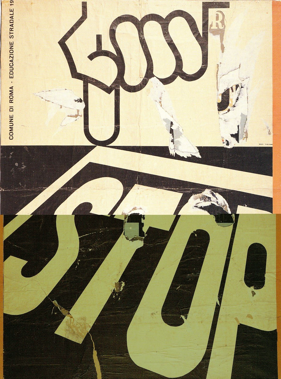 Mimmo Rotella Décollage - Stop 1963