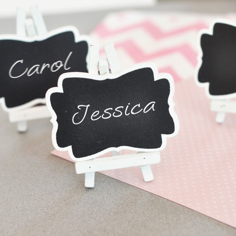 Framed Chalkboard Place Cards Places Wedding And Place Card Holders