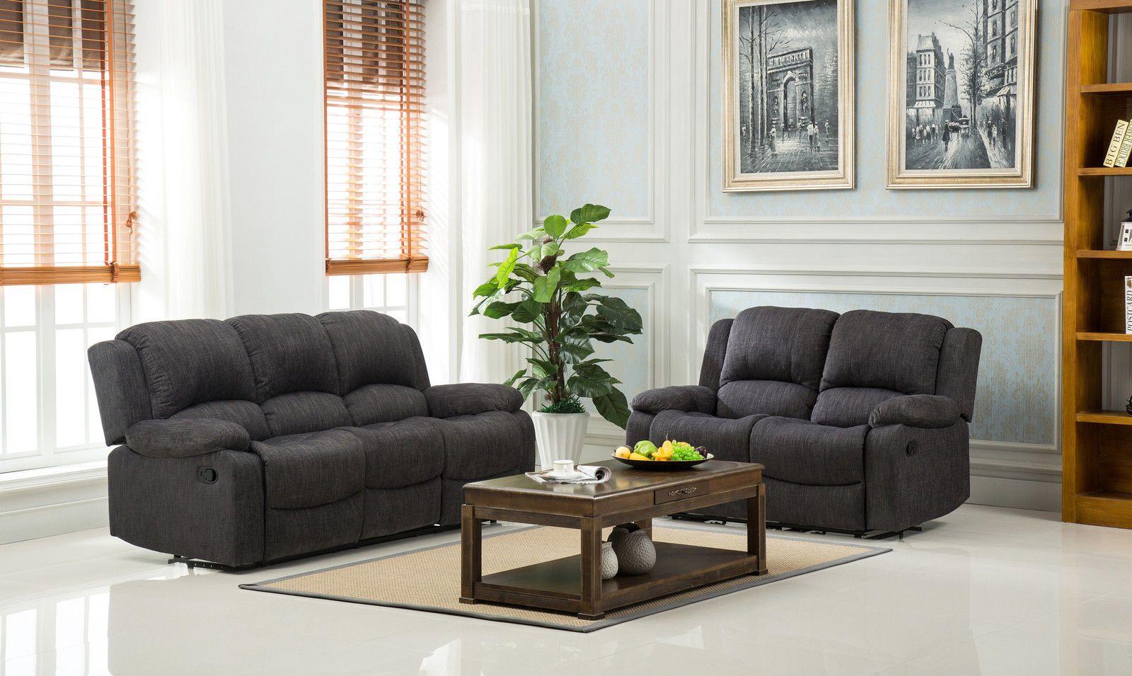Modern Lazyboy Valencia 3 2 Seater Roxy Fabric Recliner Sofa Suite Dark Grey Ebay Reclining Sofa Buy Sofa Living Room Recliner