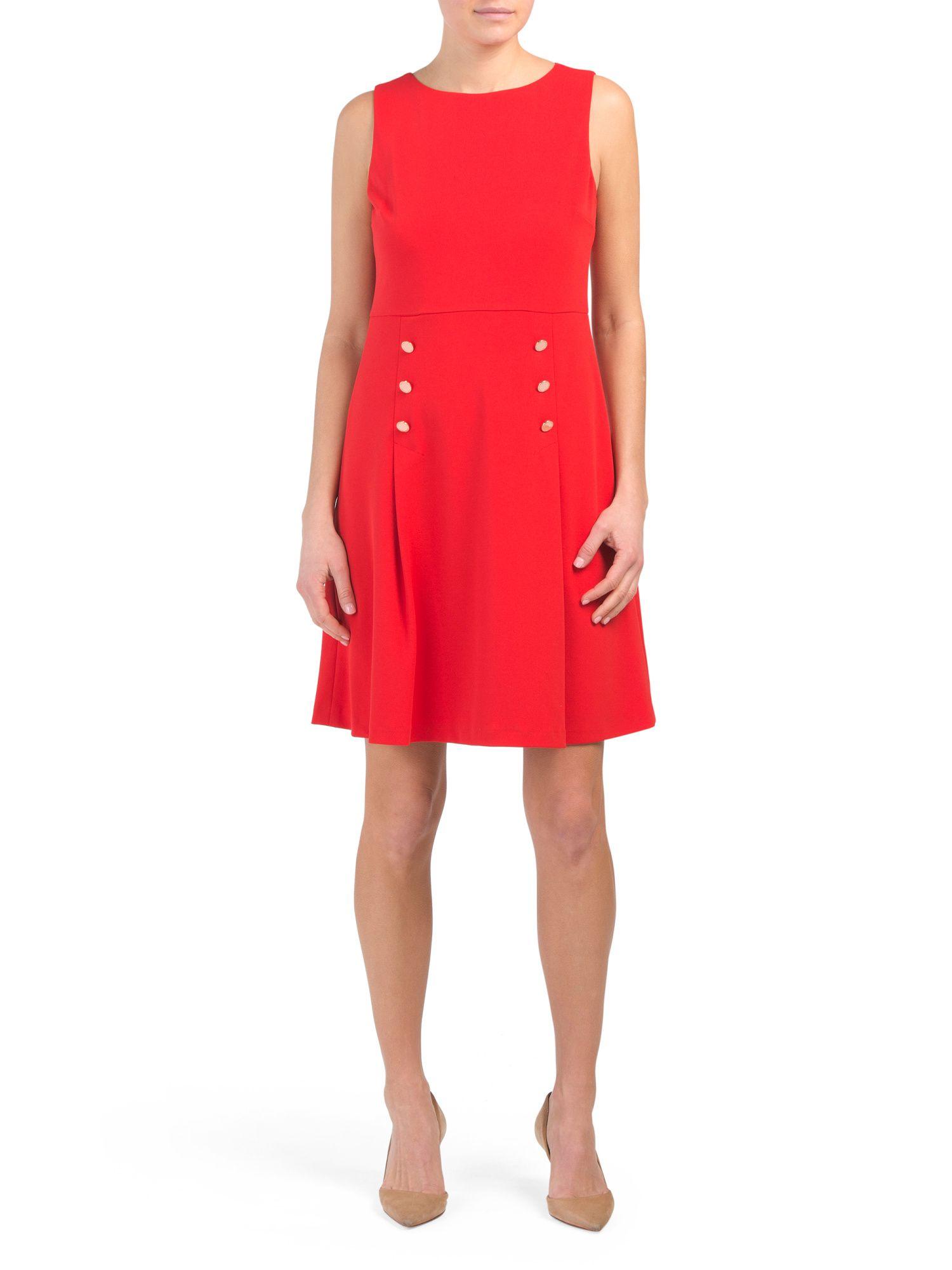 5db23e17d5ce Scuba Crepe Dress With Buttons - New Arrivals - T.J.Maxx | DRESS for ...