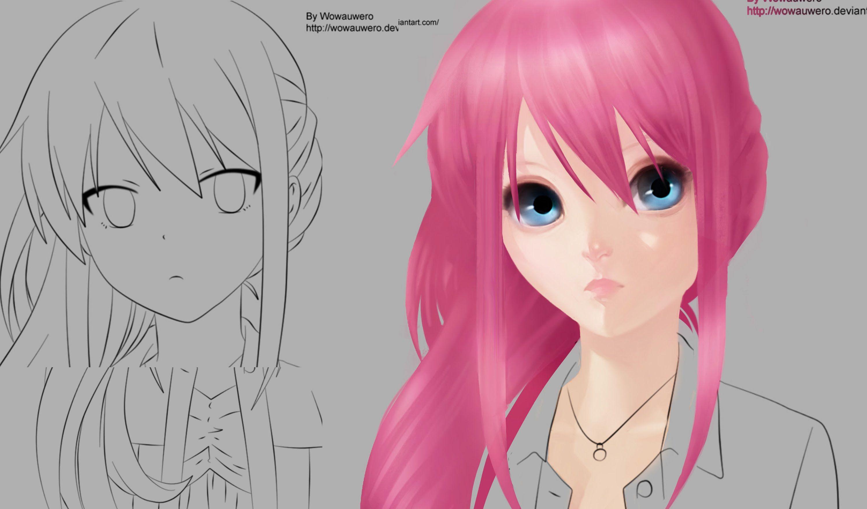 Part 2 How to Paint Realistic Anime Hair Anime hair