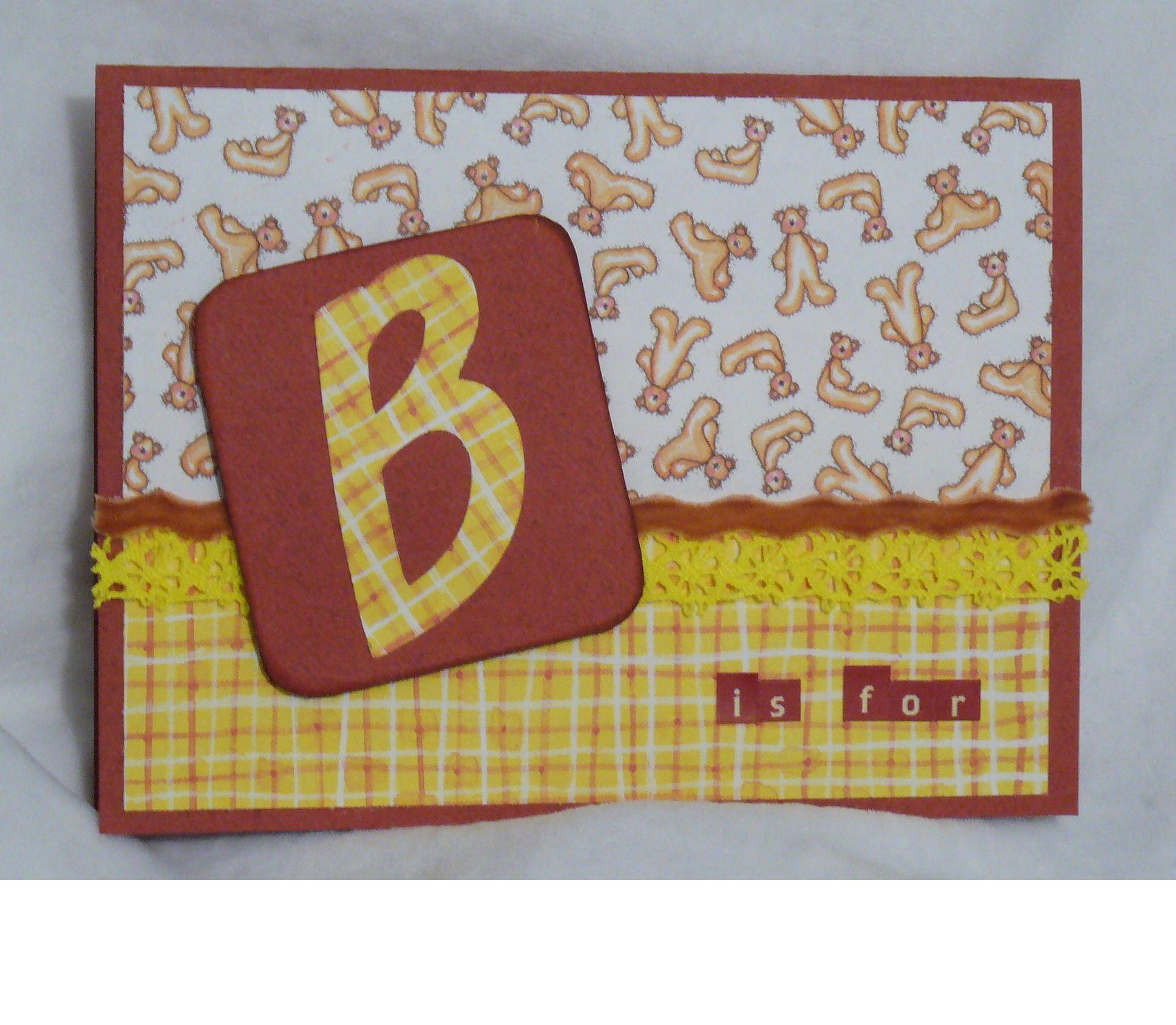 B is for... card - Scrapbook.com