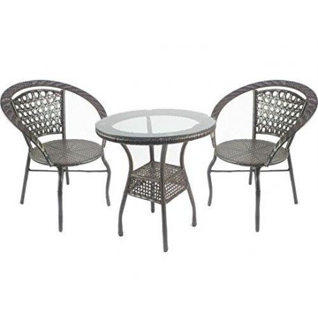 Outdoor Patio Wicker Rattan Garden Furniture Set of 2 Chair and Table Model A100011 Condition New  sc 1 st  Pinterest & Outdoor Patio Wicker Rattan Garden Furniture Set of 2 Chair and ...