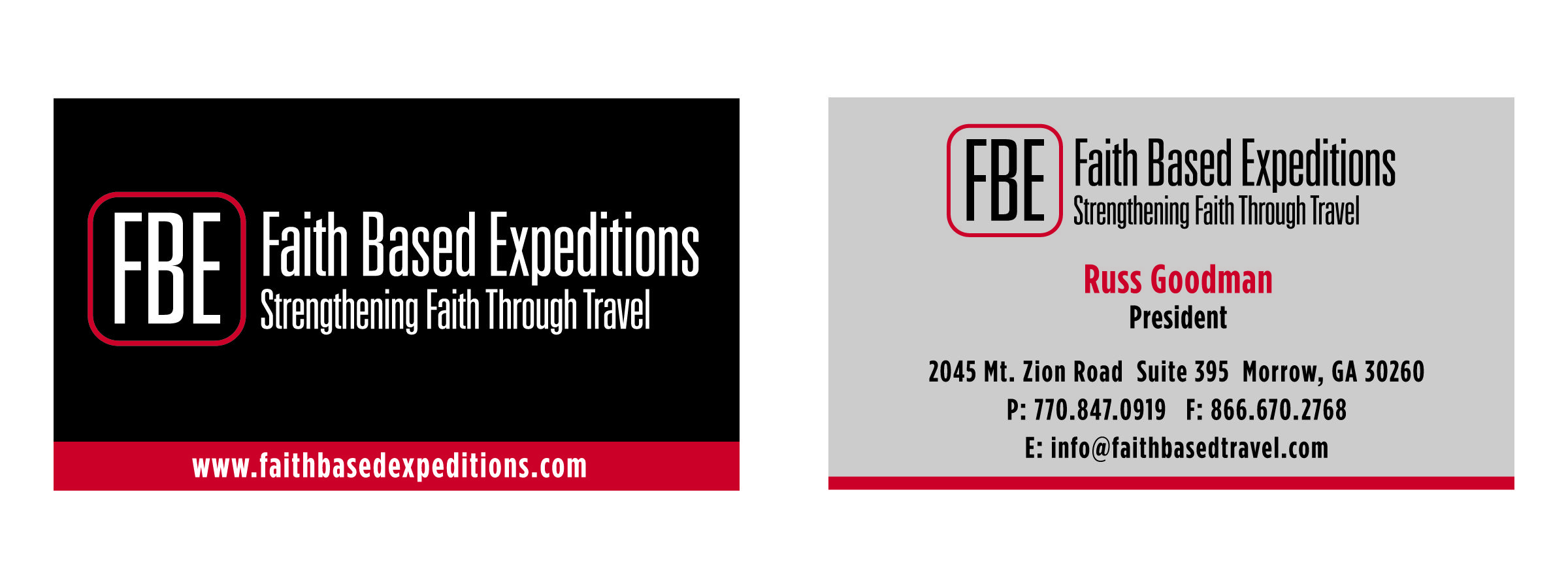 Business Card Design For Faith Based Expeditions My Work Traci