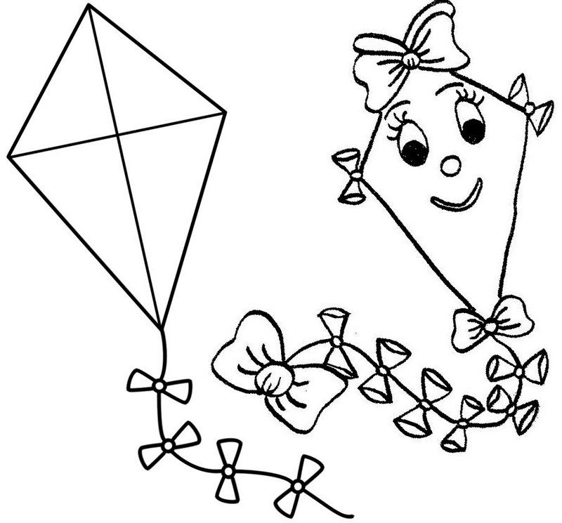 Top 10 Kite Coloring Pages for Children