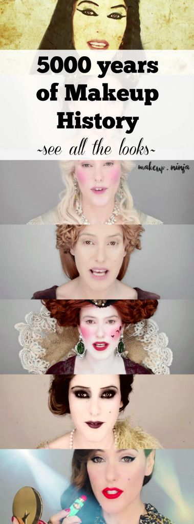 5000 years of Makeup History! See all the looks as Lisa Eldridge - history of makeup