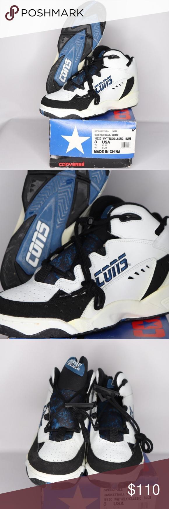 5b05df1f8b45 Vintage New Converse Speedpull Mid Shoes White 8 Vintage 90s Converse  Speedpull Mid Cons Basketball Shoes Basketball Shoes New with box
