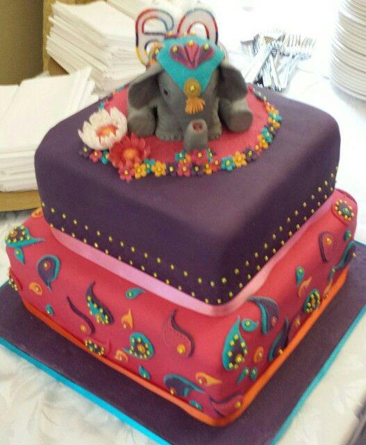 Prime Indian Elephant Cake By Debra Beckett With Images Elephant Funny Birthday Cards Online Elaedamsfinfo