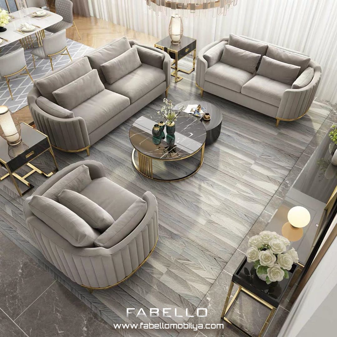 Oturma Alanlarinizin Aranan Sikligi Fabello Mobilya Ile Sizlerle Whatsap Iletisim 905 Luxury Furniture Sofa Living Room Design Decor Living Room Sofa Design