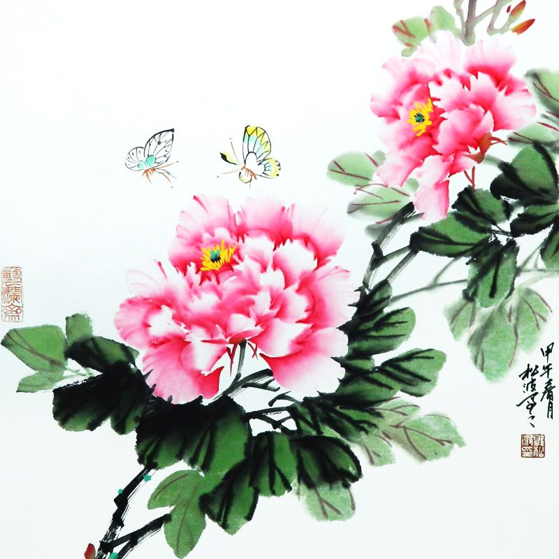 100% Hand Painted Traditional Chinese Painting 60*60cm Picture By ...
