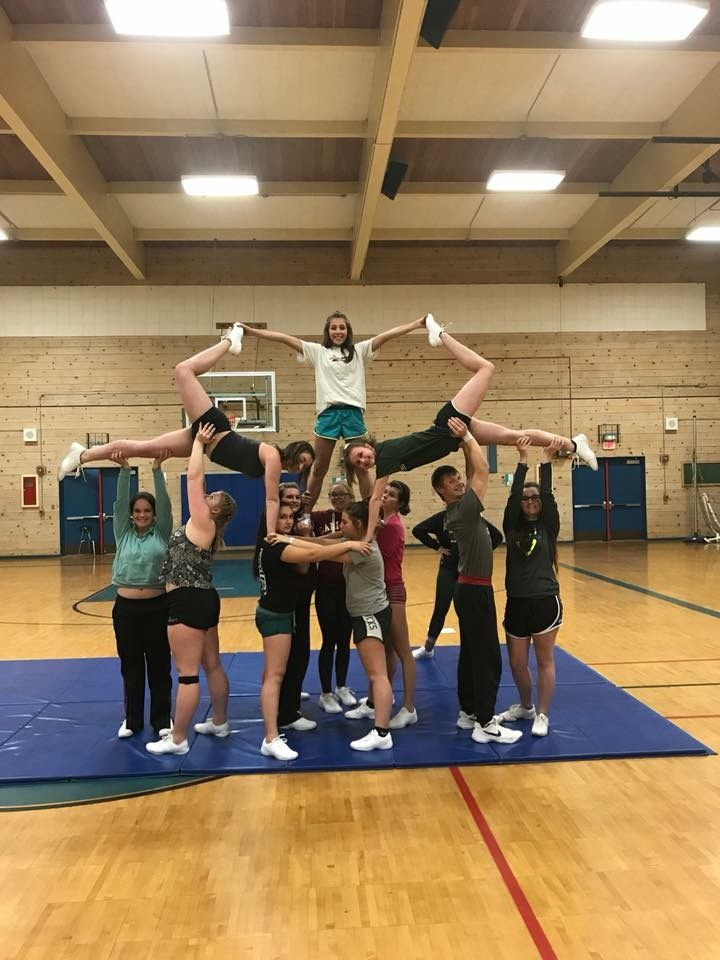 Swedish pyramid stunt #cheer #pyramid #stunts #cheer #cheerislife #cheerleadingstunting