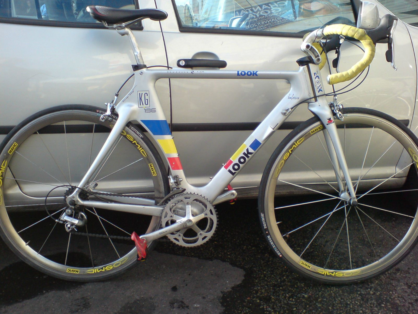 Rare Tt Triathlon Carbon Road Bike Look 196 Cosmic Vintage No
