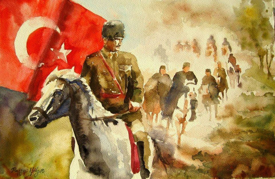 Sulu Boya İle Çizilmiş 15 Muhteşem Atatürk Portresi #funnyphotos
