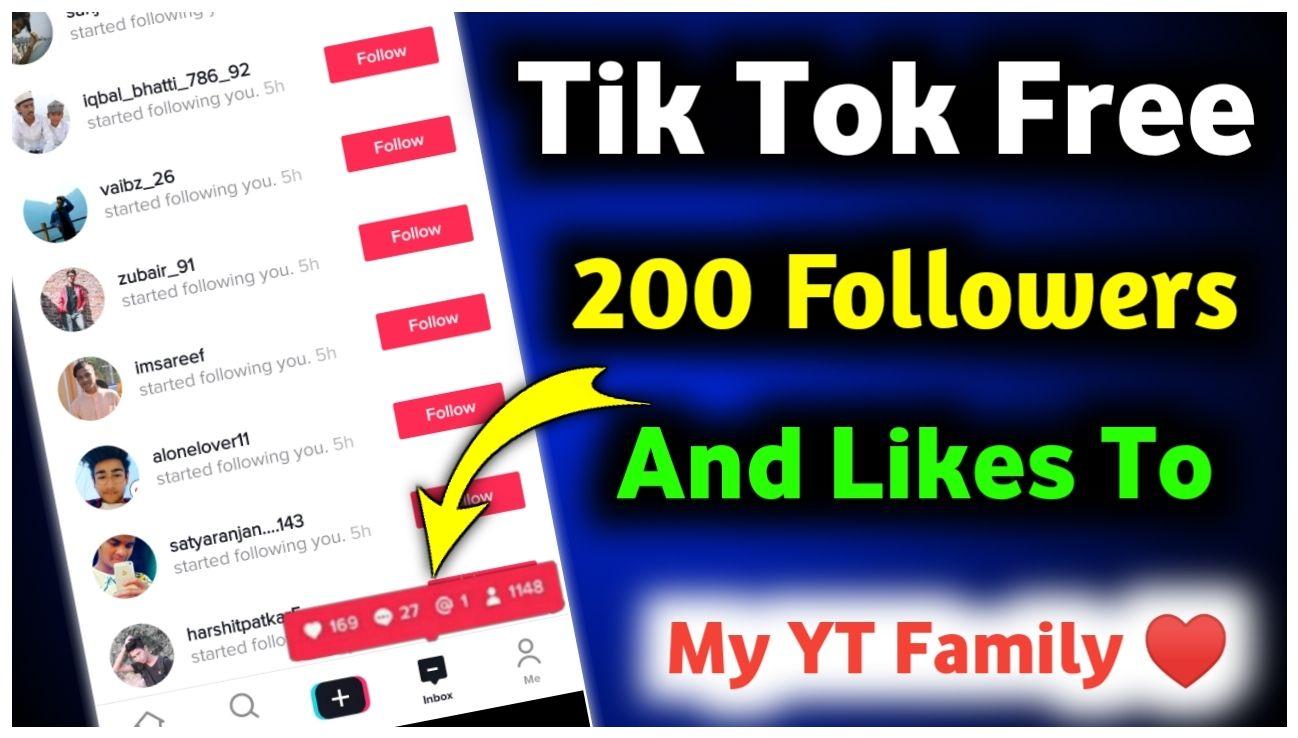 200 Free Tik Tok Followers And Tik Tok Likes Tik Tok Followers How To Get Followers Free Followers Heart App