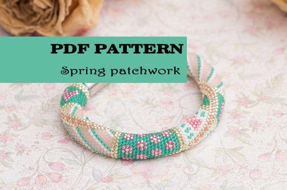 Beaded Crochet Bracelet Pattern Seed Beads Rope Pattern Crochet