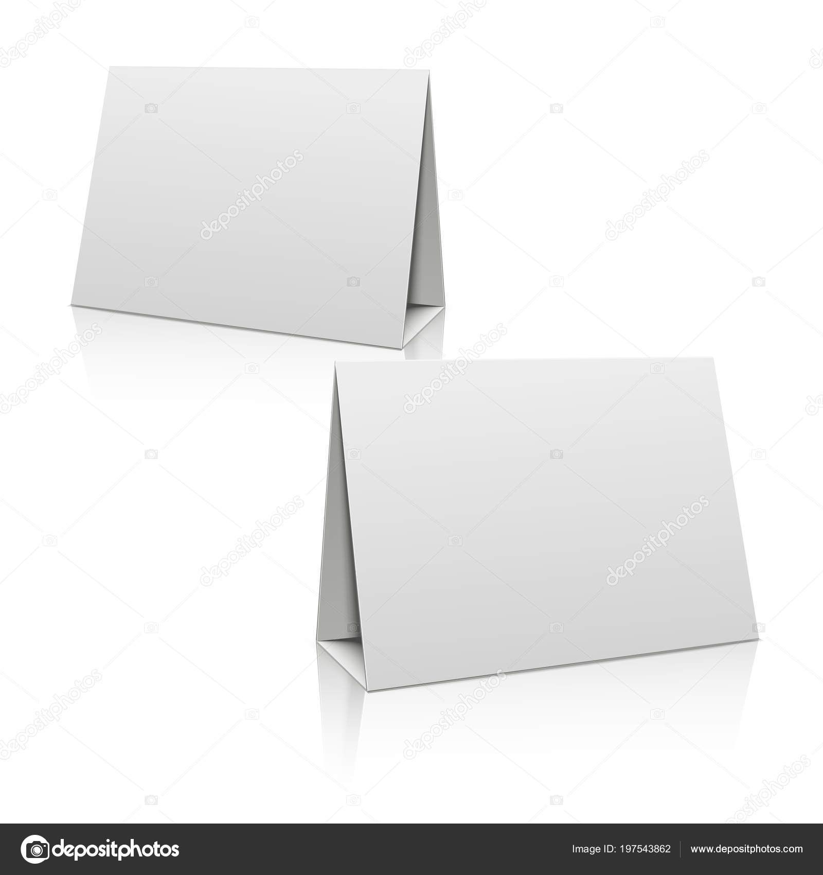 Card Stand Template Paper Stand Table Holders Id Card Template