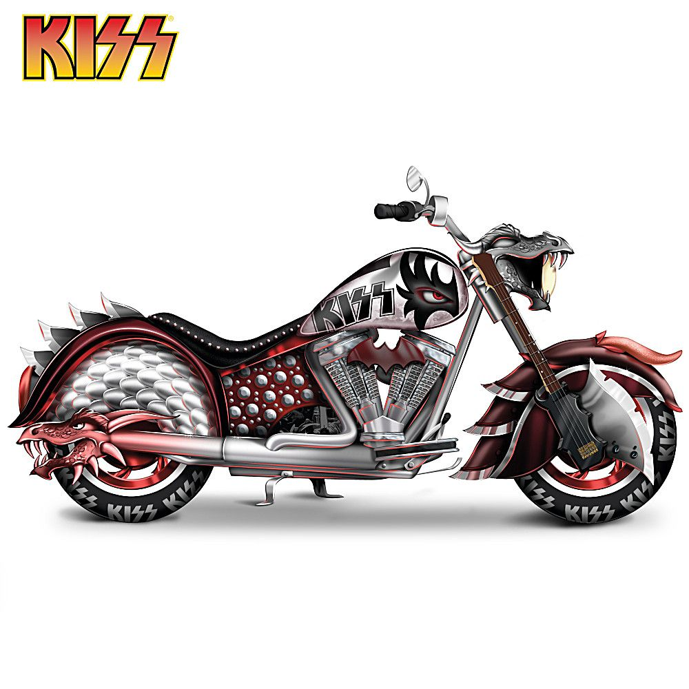 906663001 Kiss Rock And Roll All Nite Motorcycle Sculpture Motorcycle Sculpture Rock And Roll Motorcycle