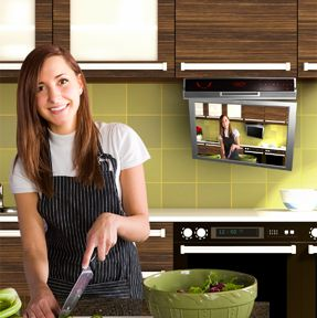 Cabinet Tv Kitchen Tv Under Cabinet Tv The Kitchen Cabinet Tv Specialists L Tv In Kitchen Contemporary Kitchen Design Small Kitchen Tv
