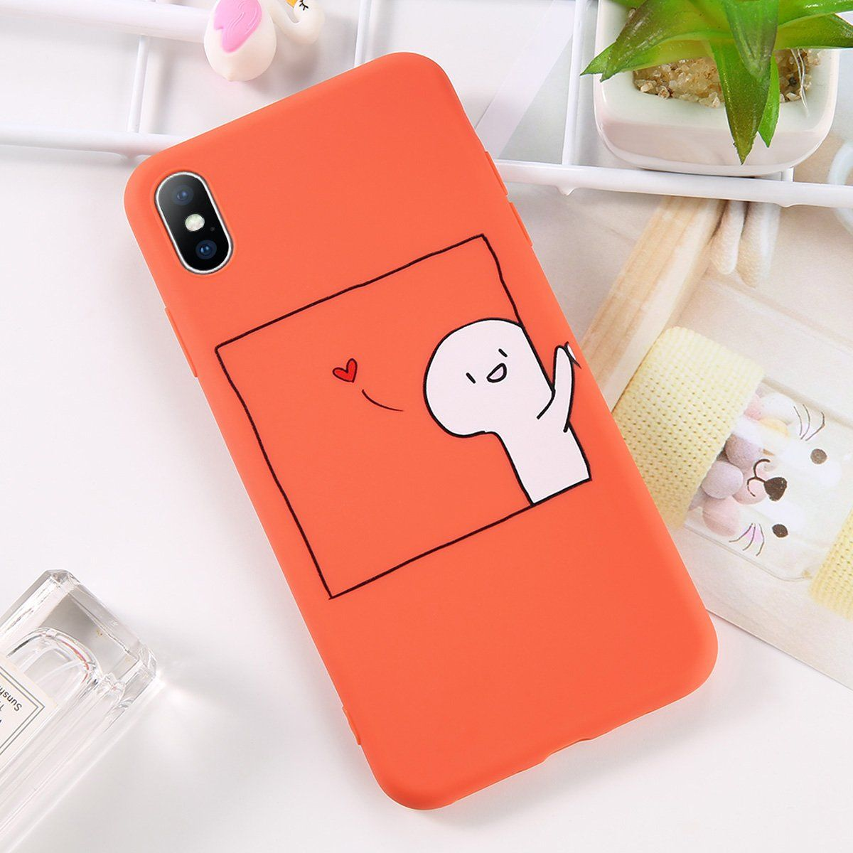 0014ea441e Moskado Cartoon Couples Phone Case For iphone X Case For iphone 6 6S 7 8  Plus Soft TPU Back Cover Funny Print Cases Outfit Accessories From Touchy  Style ...