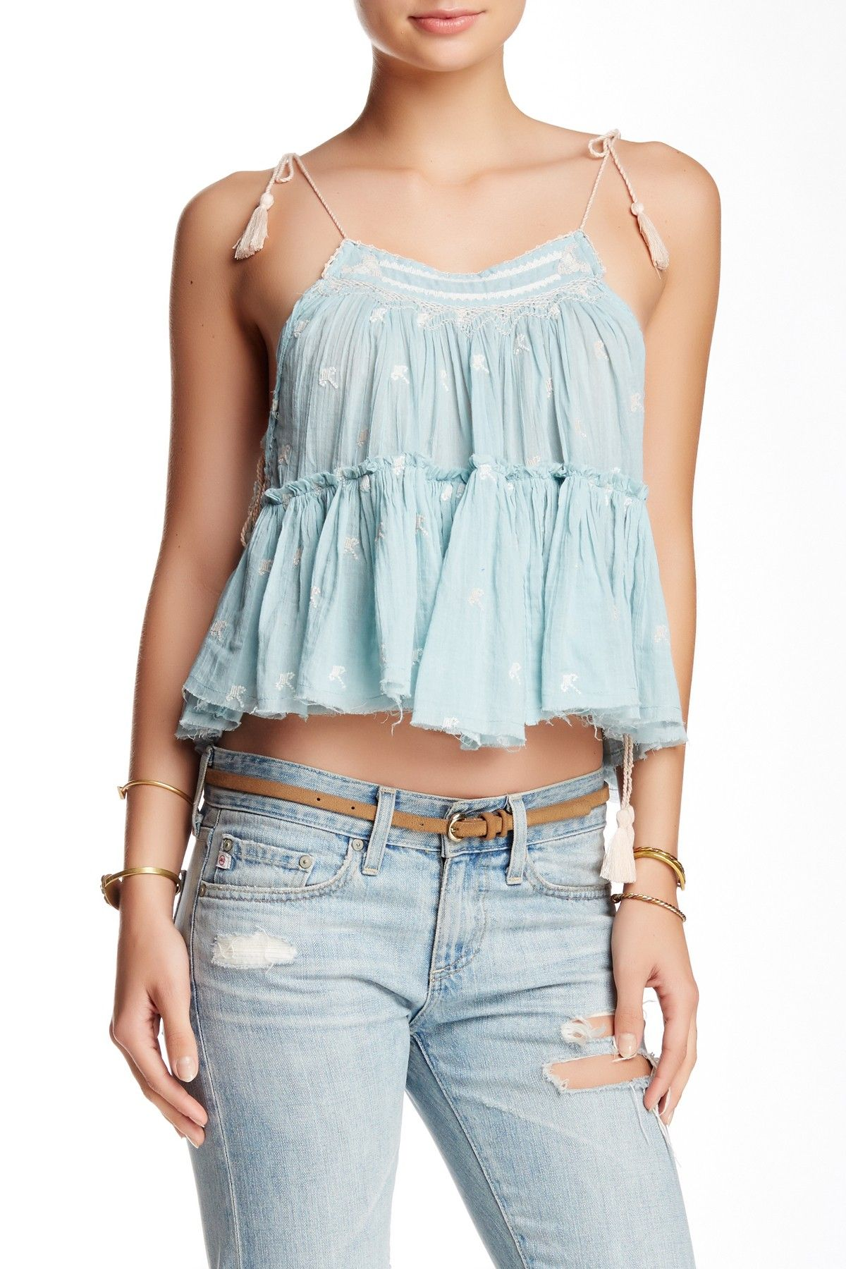 Free People - Magic Power Crinkly Cotton Tank at Nordstrom Rack. Free Shipping on orders over $100.