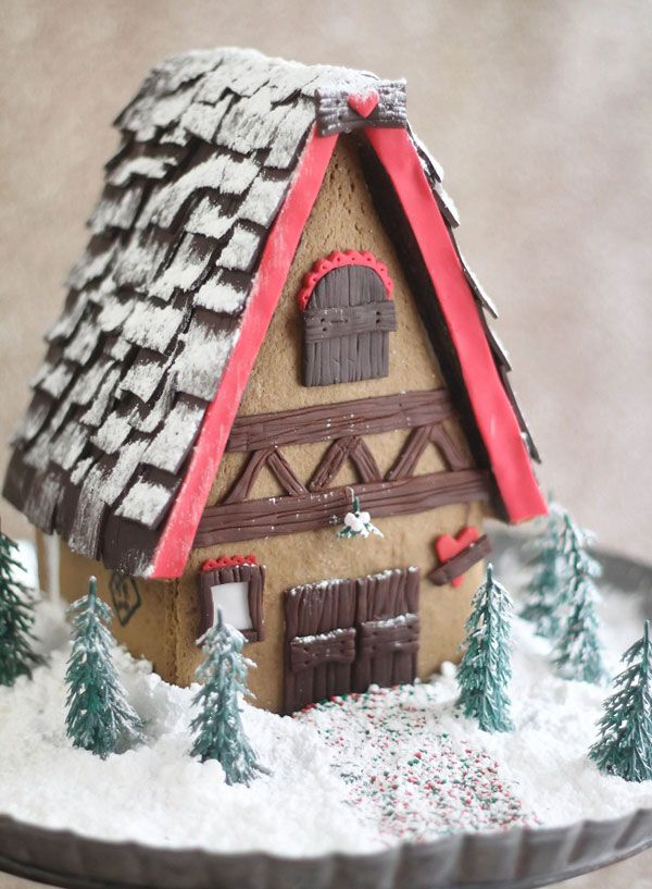 Gingerbread house dough from heather baird also amazing ideas houses rh pinterest