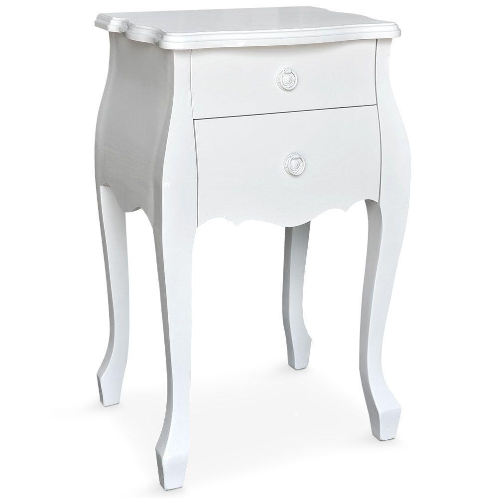 Chevet Laque Blanc Authentica Lestendances Fr Laque Blanche Chevet Table De Chevet