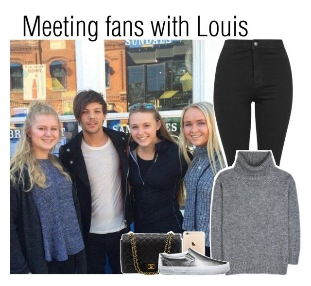 """""""Meeting fans with Louis"""" by lucybitch ❤ liked on Polyvore featuring Topshop, Yves Saint Laurent, Chanel and Vans"""