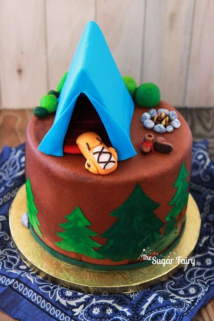 Camping And Hiking Cake Camping Cakes Birthday Desserts