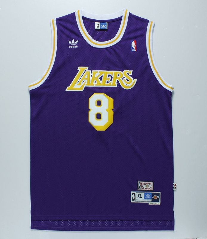 74400a24e4bc NBA Los Angeles Lakers  8 Kobe Bryant purple Throwback Jersey