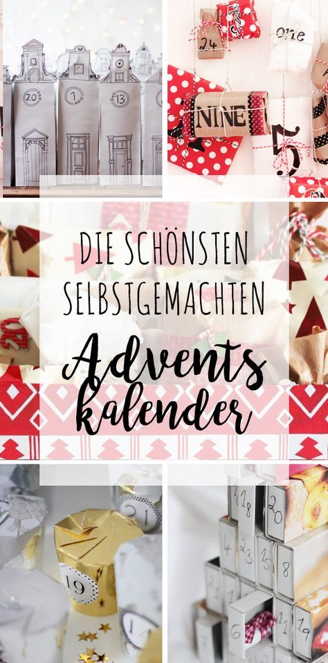 die sch nsten selbstgemachten adventskalender weihnachten pinterest selbstgemachter. Black Bedroom Furniture Sets. Home Design Ideas