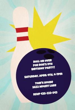 Bowling Birthday Party Free Printable Birthday Invitation Template