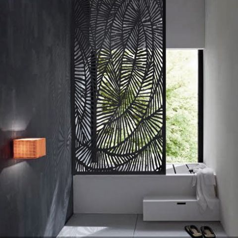 Ferlie metal laser cut screens outdoor screens wall for Klebefolie orientalisch