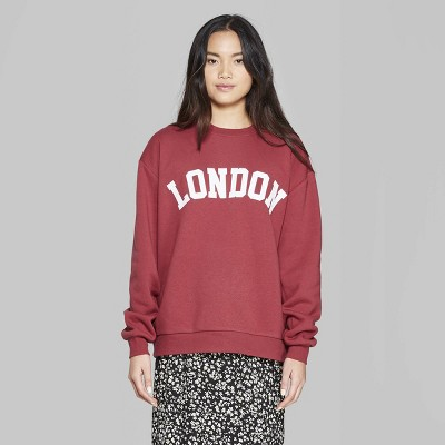 9f875ec73a1 Women's Long Sleeve Oversized Crewneck Sweatshirt with London ...