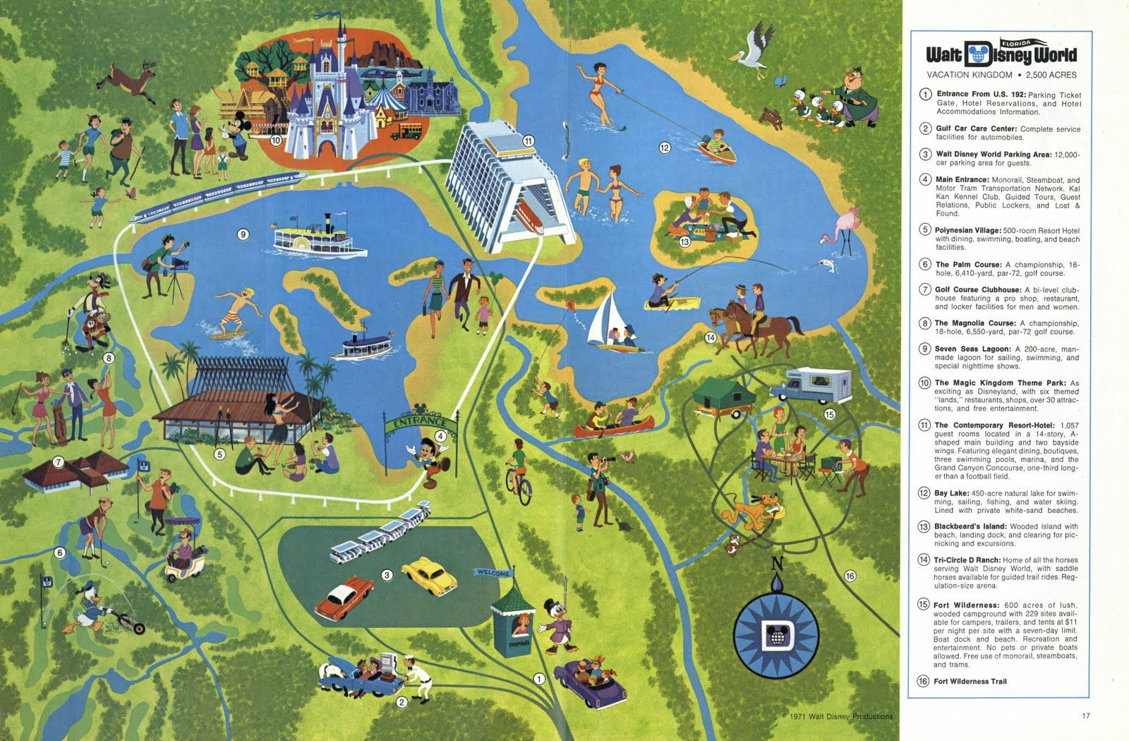 First Map Of Wdw Note You Only See The Contemporary And Polynesian