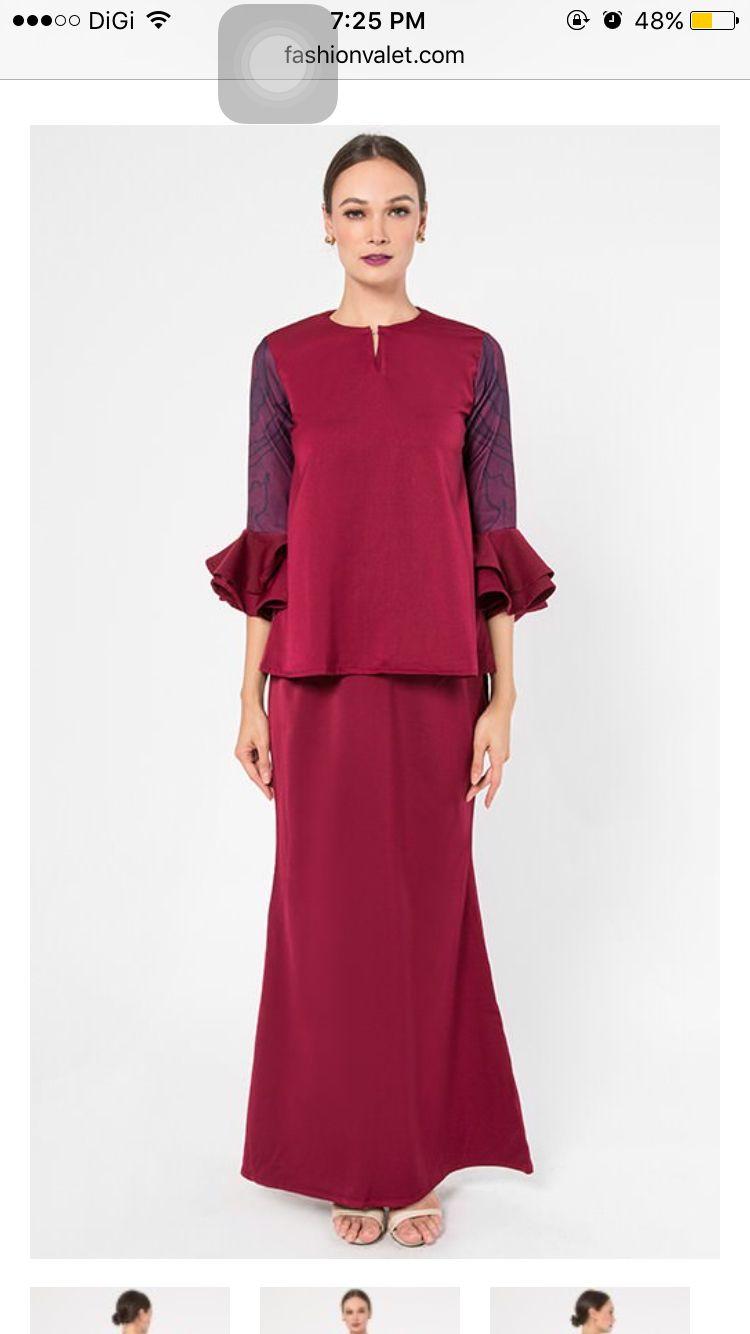 Baju Kurung Modern Baju Kurung Design Pinterest Modern And