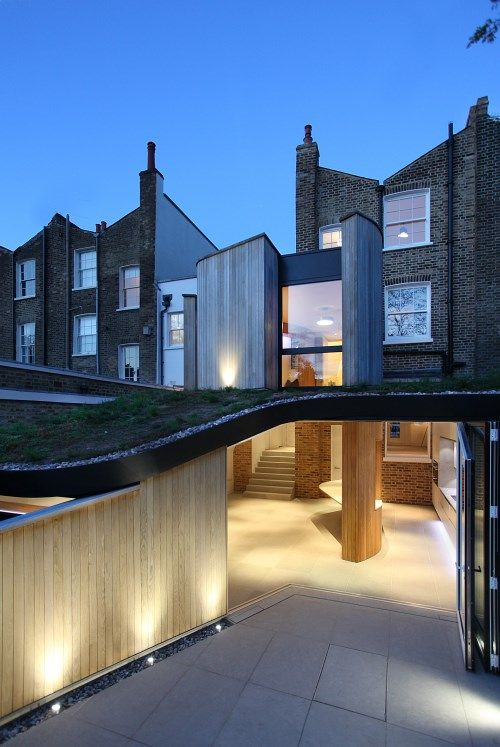 De Beauvoir Road House by Scott Architects Inspirationist - Terrace Design