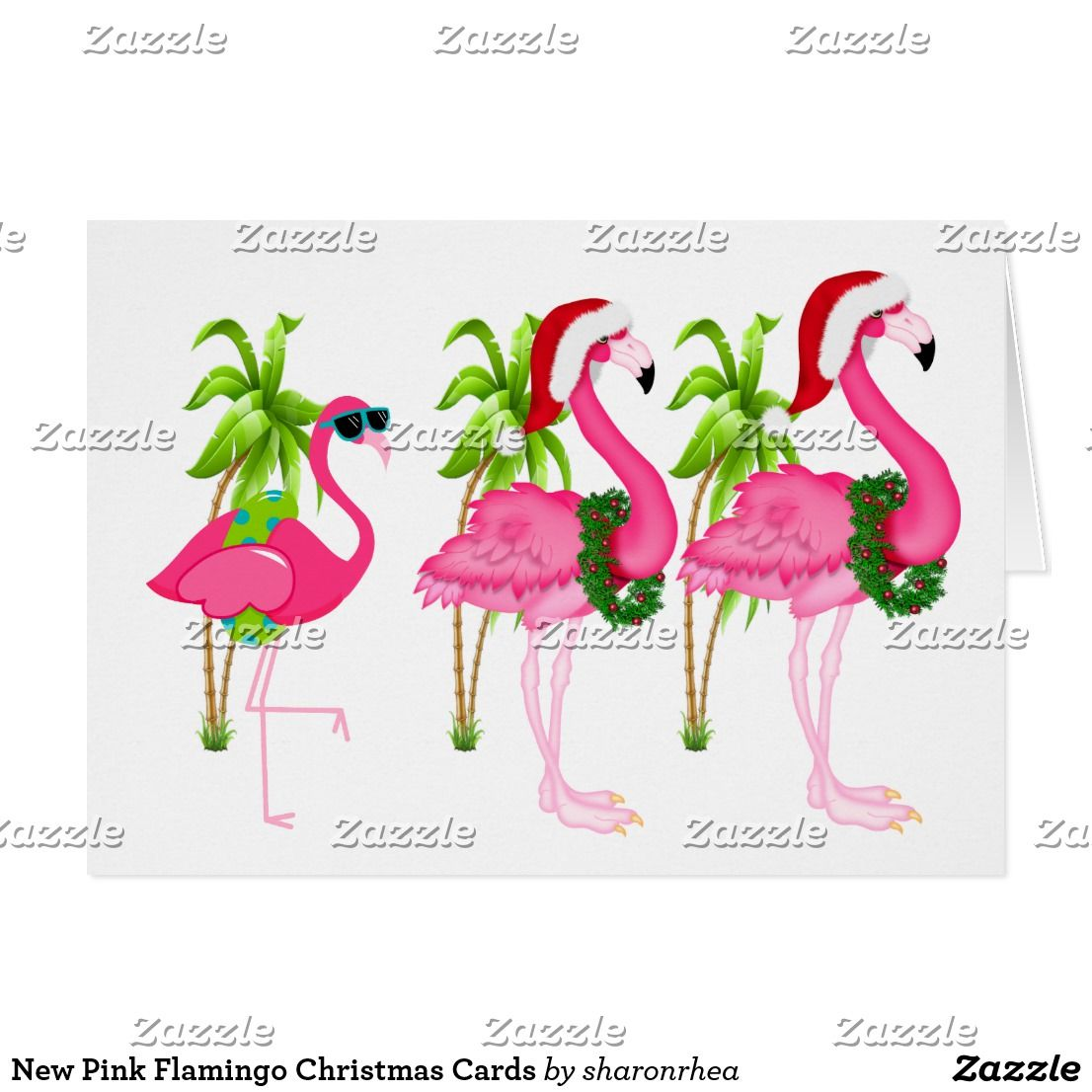 Five Pink Flamingo\'s - Wrapped Canvas